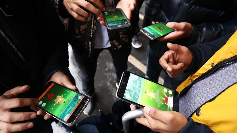 Spieler mit Pokémon Go