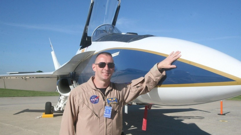 Testflugzeug F/A-18 der Nasa: in drei Stunden über den Atlantik