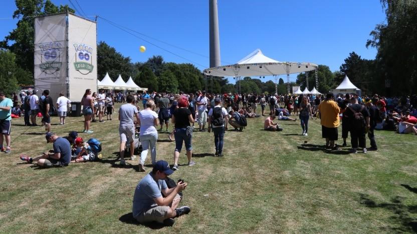 Der Pokémon-Event im Westfalenpark erinnerte an ein Musikfestival.