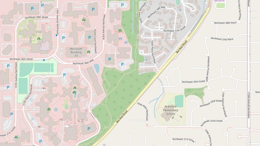 Noch fehlen den neuen Umrisse von Microsoft in Openstreetmap.