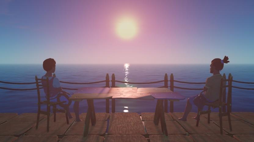 Ein Sonnenuntergang in Raft