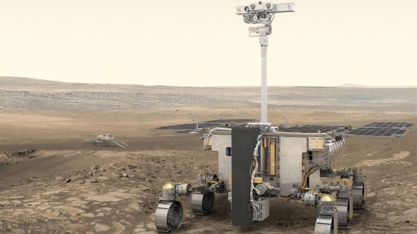 Exomars-Rover der Esa: Airbus hat schon Erfahrung mit Marsrovern.