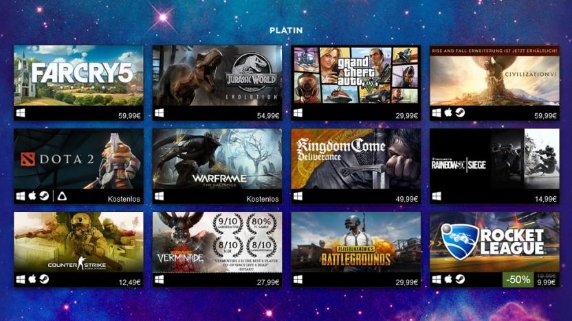 Die bestverkauften PC-Spiele des ersten Steam-Halbjahrs
