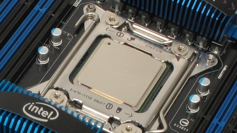 Ein Core i7-3970X alias Extreme Edition auf einem Intel-Board