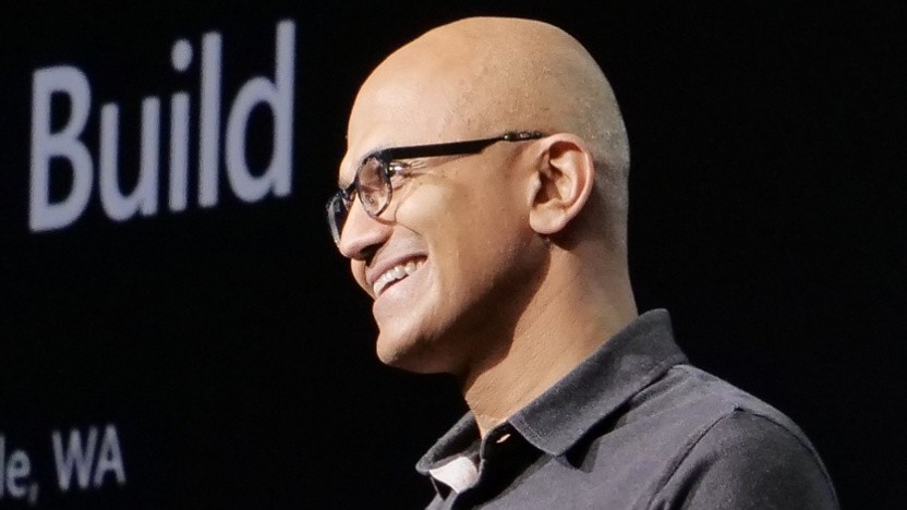 Mit einem Lächeln: Microsoft-Chef Satya Nadella auf der Build 2018