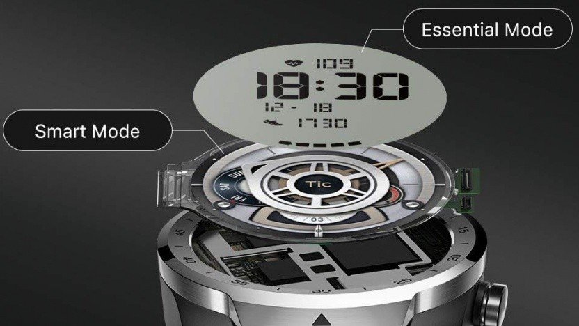 Ticwatch Pro läuft mit Android Wear.