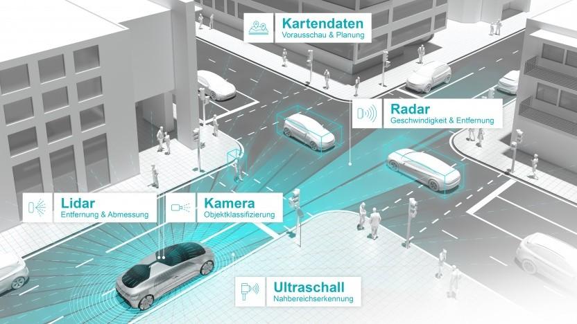 Bosch und Daimler testen gemeinsam selbstfahrende Autos.