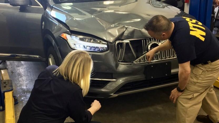 Der Uber-Testwagen nach dem tödlichen Unfall in Tempe/Arizona