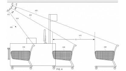 Eine Zeichnung des durch Walmart patentierten Sensorsystems.
