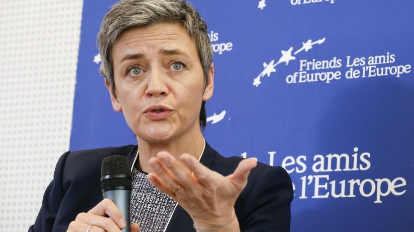 EU-Wettbewerbskommissarin Margrethe Vestager im Streit mit dem Silicon Valley