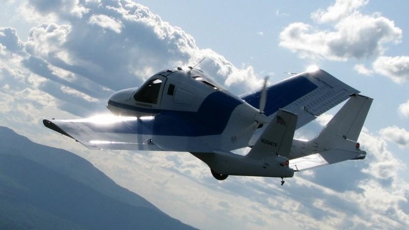 Flugauto Transition: zum Starten und Landen auf den Fllugplatz