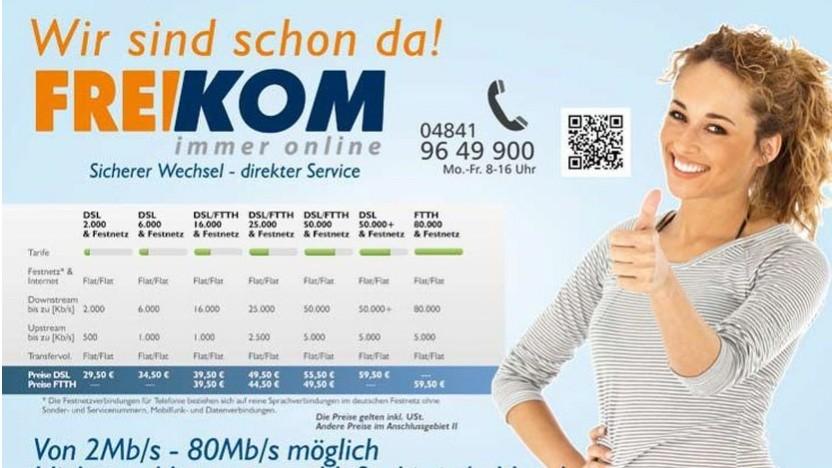 Werbebild von Freikom