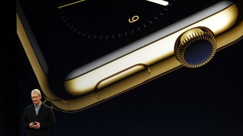 Apple-Chef Tim Cook bei der Präsentation einer Apple Watch