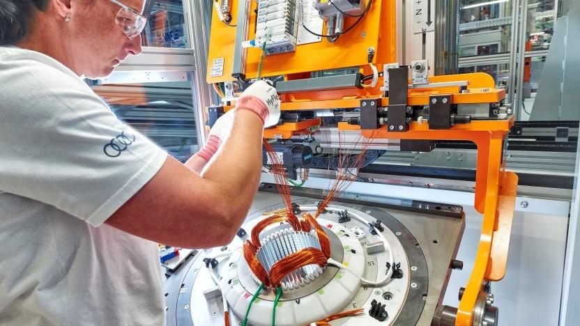Serienproduktion von Elektroantrieben bei Audi