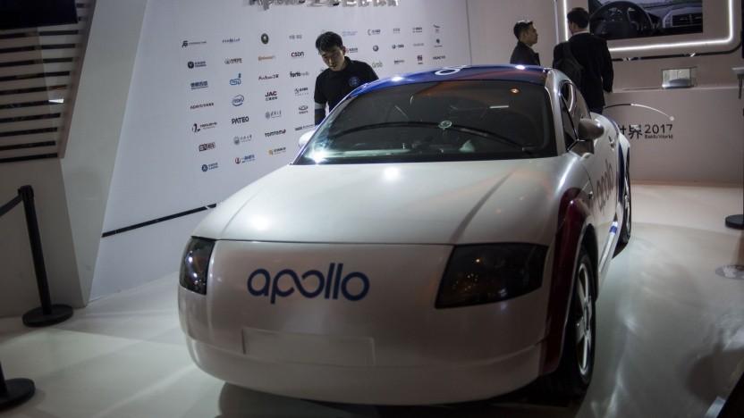 Fahrerloses Fahrzeug mit Apollo (Symbolbild): Daimler war einer der ersten Partner.