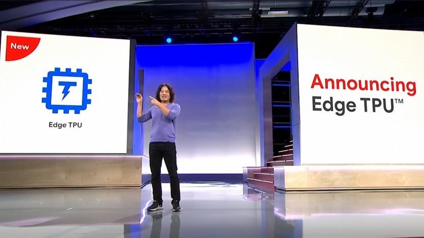 Google stellt die Edge TPU auf der Cloud Next 18 vor.