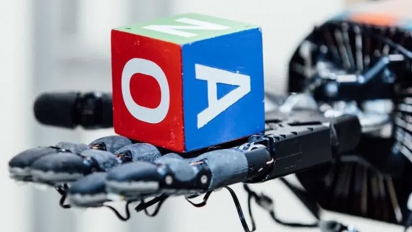 Roboterhand mit Würfel: Erfahrung von zwei Jahren in einer Trainingsstunde
