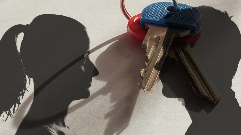 Bob und Alice tauschen Schlüssel aus.
