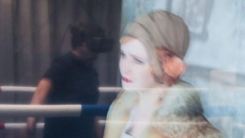 VR-Experience des Fraunhofer HHI: Gesichtszüge und sich bewegende Kleidung werden realistisch wiedergegeben.