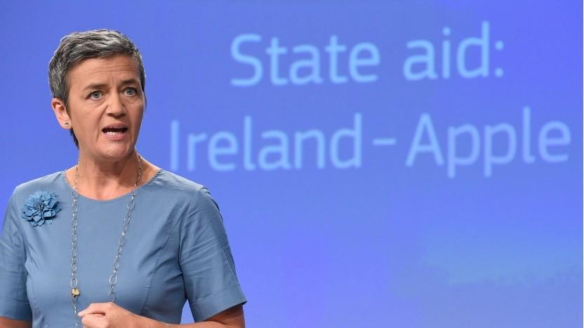 EU-Kommissarin Vestager verteidigt die Steuerentscheidung der Wettbewerbsbehörde.