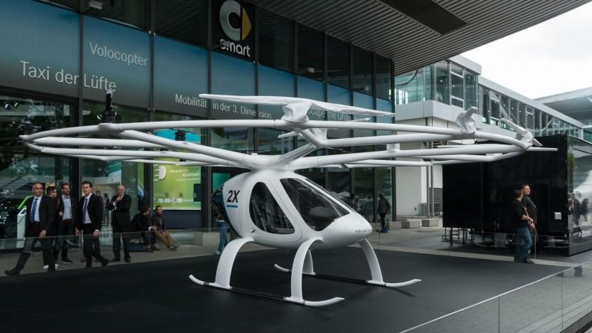 Volocopter X2: Ein Viertel des Personenverkehrs in Dubai soll autonom abgewickelt werden.