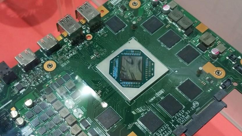 Platine des Subor Z+ mit Zen/Vega-APU und GDDR5