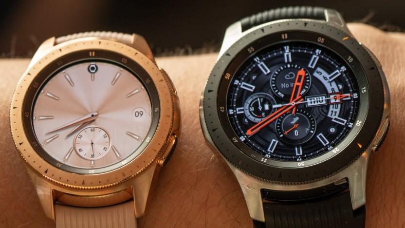 Die beiden Modelle der neuen Galaxy Watch