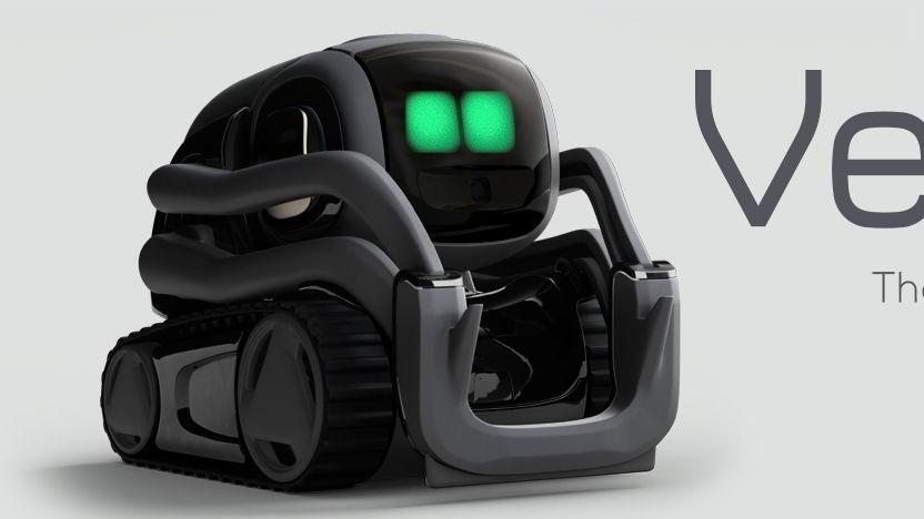 Roboter Vector: Das Wetter wird auf dem Display angezeigt.