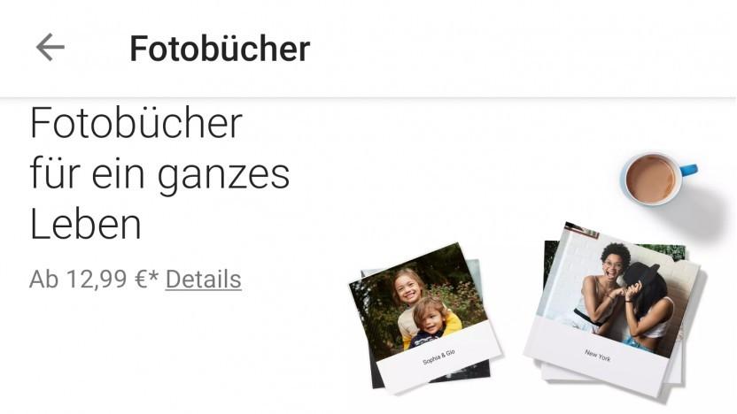 Die neue Fotobuch-Funktion in der Android-Version der Google-Fotos-App