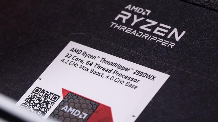 Close-Up der Verpackung eines Threadripper 2990X