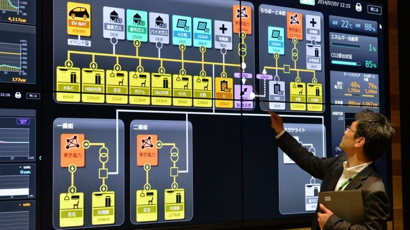 Schalttafel für ein Smart-City-Projekt in Japan: gefährdete Systeme in Großstädten in den USA, in Europa und anderswo