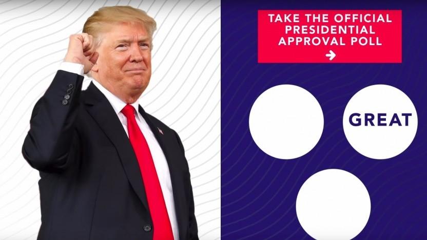 Politische Werbung für US-Präsident Donald Trump