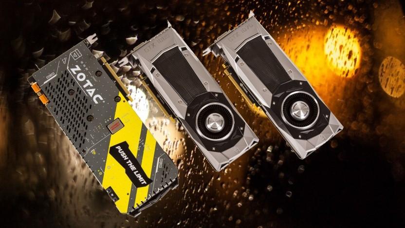 Zwei Geforce Founder's Editions rechts, links ein Custom-Design von Zotac