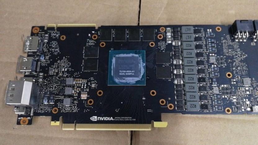 Referenzplatine der Geforce RTX 2080 mit GDDR6-Videospeicher