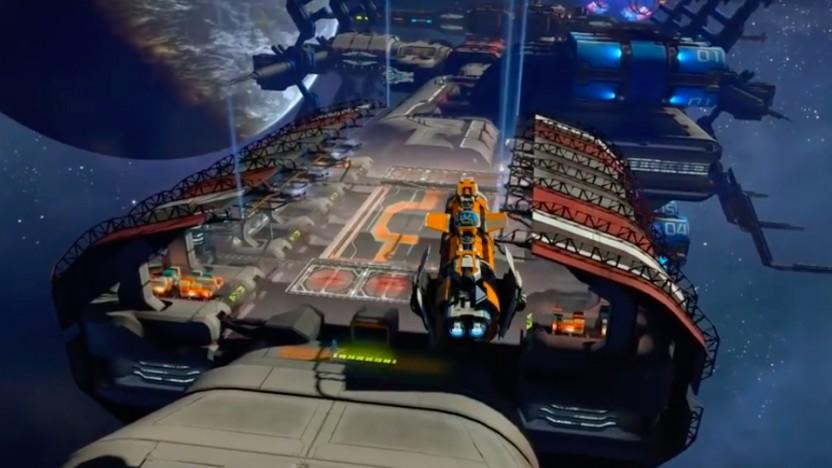 Szene aus dem Weltraumspiel X4