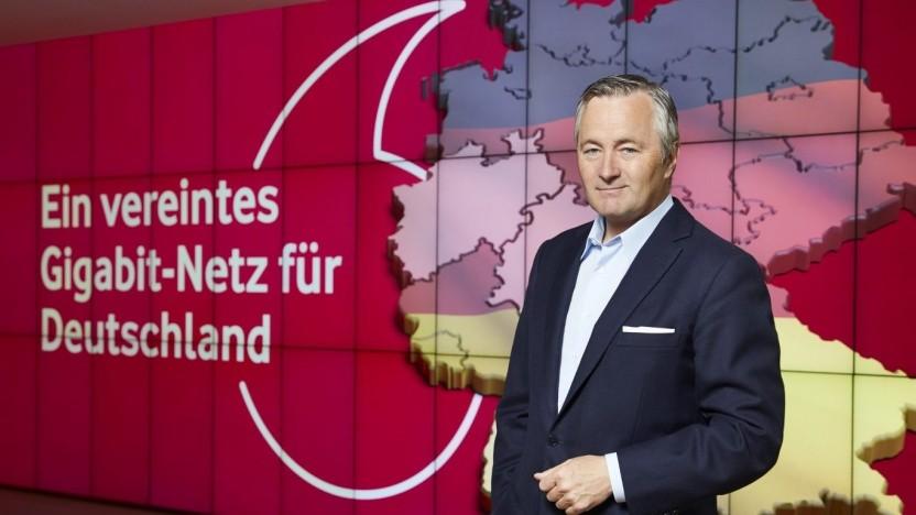 Vodafone feiert die mögliche Übernahme.