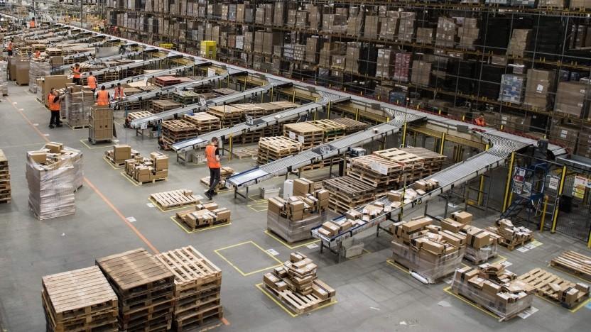 Ein Amazon-Versandlager