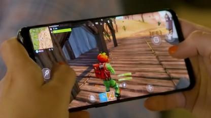 Fortnite auf einem Android-Smartphone