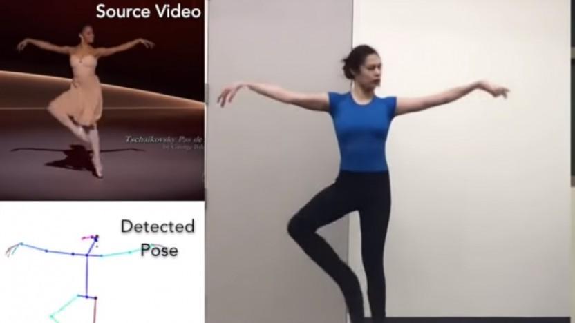 Nein, diese Frau kann eigentlich nicht Ballett tanzen.