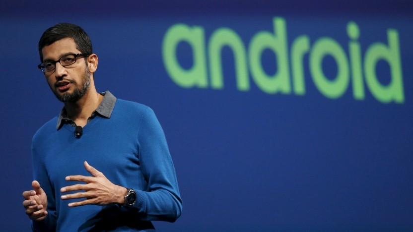 Google-CEO Sundar Pichai erhält Post aus Berlin.