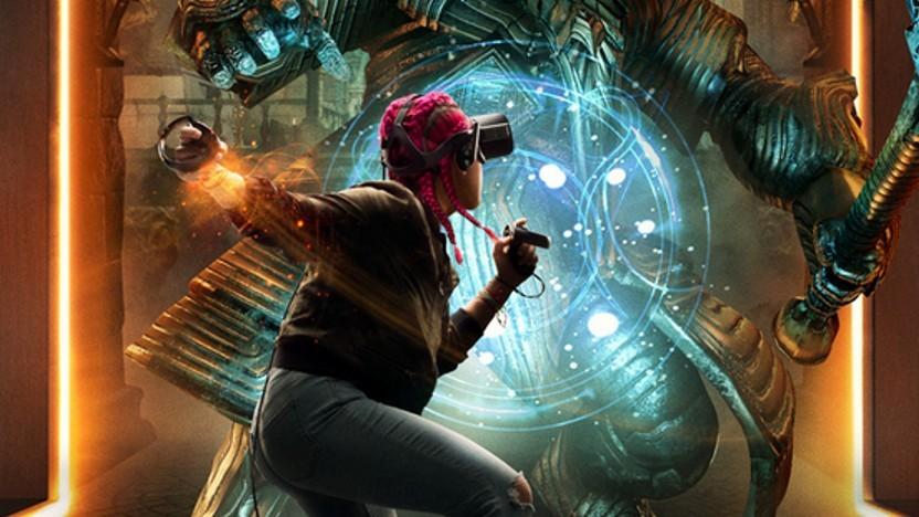 Artwork eines Spielers mit Oculus Rift
