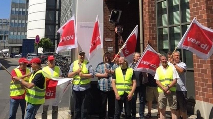 Protest bei T-Systems gegen den Stellenabbau