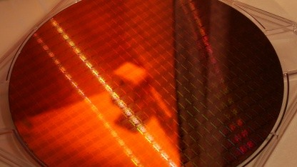 Ein Wafer mit 14-nm-Chips von Intel