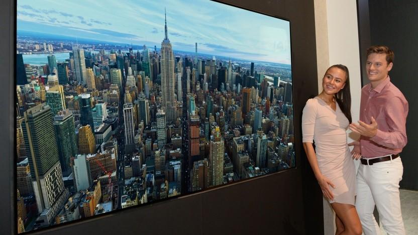 ultra hd lg und samsung zeigen 8k fernseher mit oled und. Black Bedroom Furniture Sets. Home Design Ideas
