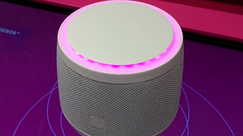 Die Telekom zeigt ihren Smart Speaker auf der Ifa 2018.