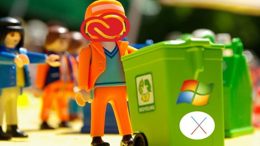 Windows 7 und MacOS X El Capitan werden von Adobe nicht mehr unterstützt.