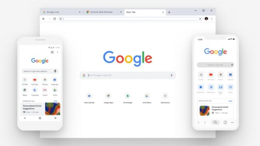 Rund ist das neue Eckig in Googles Chrome.