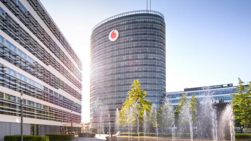 Der Unternehmenssitz von Vodafone in Düsseldorf