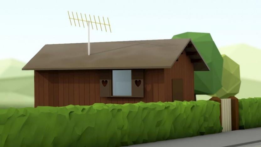 Antenne an der Hütte
