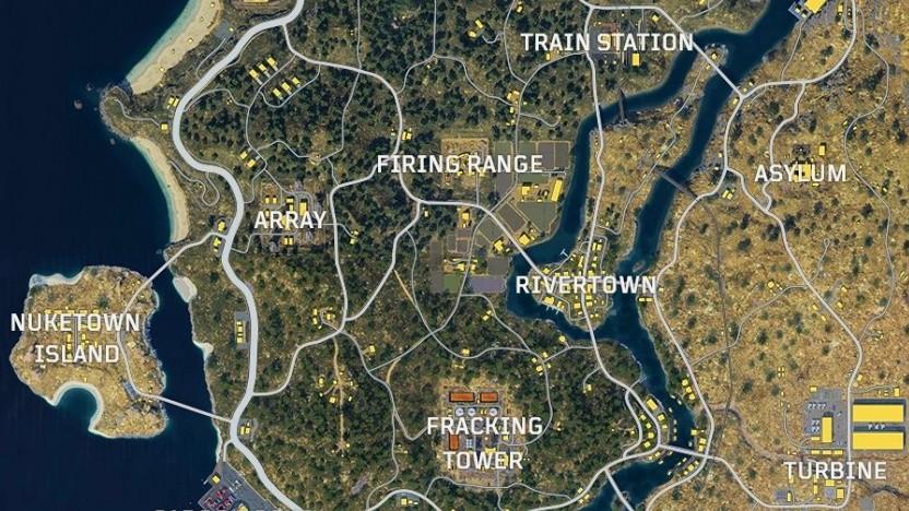 Übersicht der Battle-Royale-Map von Black Ops 4